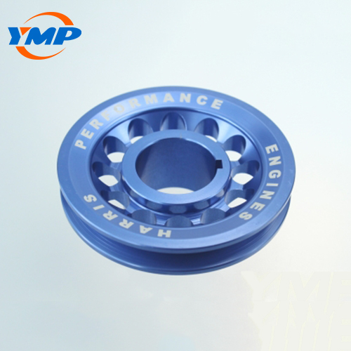 Custom high precision blue  anodized aluminum cnc turning   parts with laser engraved logo