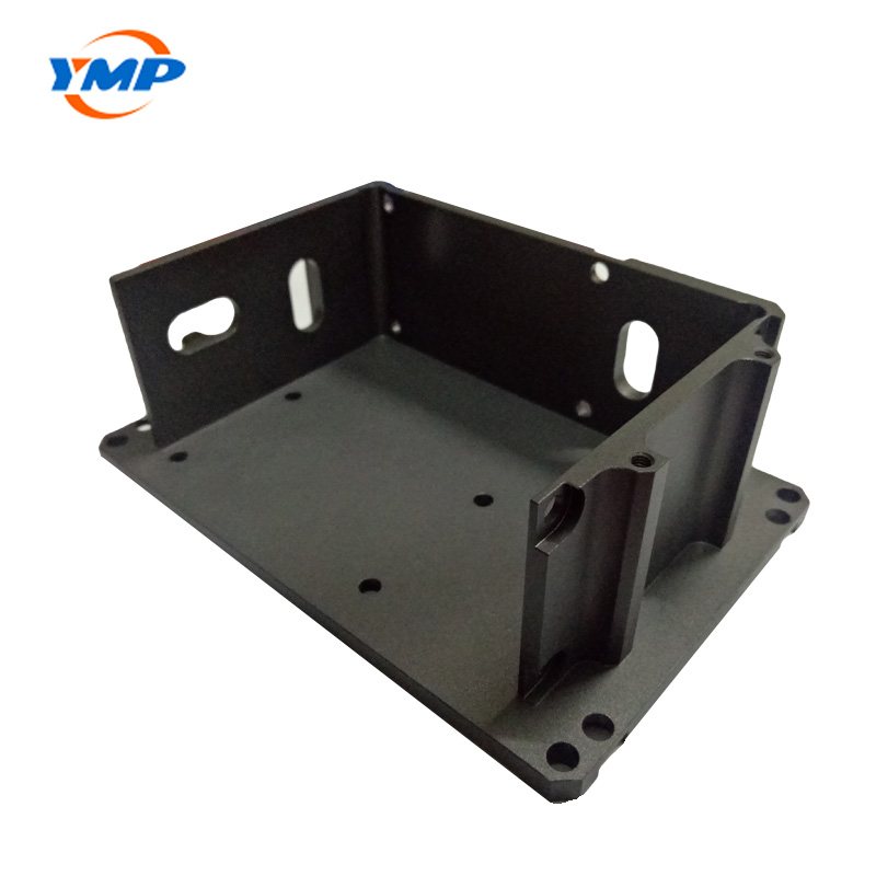 CNC Anodized Aluminum Milling Turning Black Finished Sandblast Components Parts